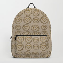 Cute Gold Hearts Pattern Backpack
