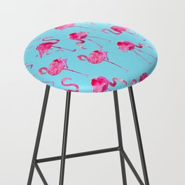 floridian Ffamingos - blue Bar Stool