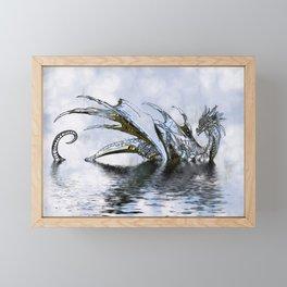 Blue Dragon Framed Mini Art Print