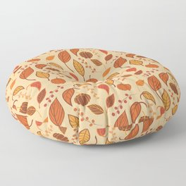 Leaves and pumpkins Floor Pillow
