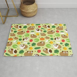 Guinea Pig And Its Treats Rug