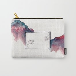 Reaching Hands and Mountains Carry-All Pouch