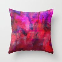 burgundy Throw Pillows featuring Burgundy by Georgiana Paraschiv