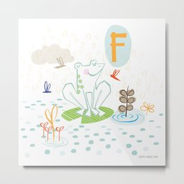 """F"" Metal Print"