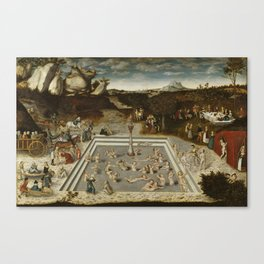 Lucas Cranach Der Jungbrunnen Fountain Of Youth Canvas Print