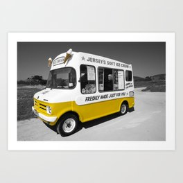 Respect to the man in the Ice Cream Van Art Print