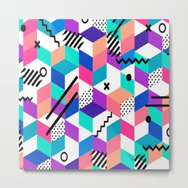 Vector Abstract Colorful Geometrical Pattern Metal Print