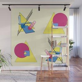 The Shape Haus: a Contemporary Bauhaus Composition Wall Mural