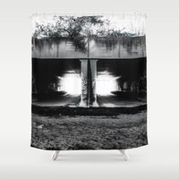 melbourne Shower Curtains featuring Melbourne Tunnels by Paul Vayanos