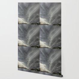 Cloud Wall Turning Wallpaper