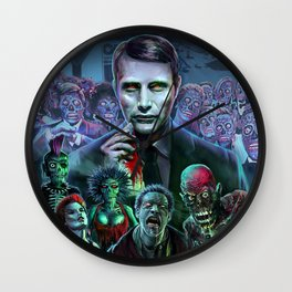 Hannibal Holocaust - They Live Return of the Living Dead Mads Mikkelsen Wall Clock
