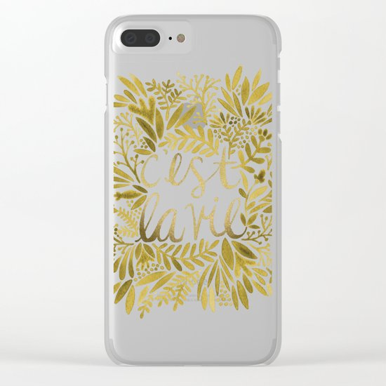 That's Life – Gold on Gold Clear iPhone Case