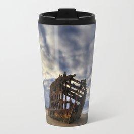 Peter Iredale Shipwreck Sunrise Travel Mug