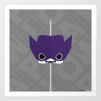 clint barton Art Prints featuring Marshmallow Clint Barton by Oblivion Creative