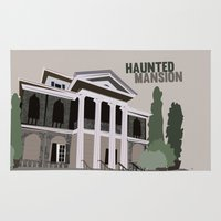 haunted mansion Area & Throw Rugs featuring new Orleans square.. haunted mansion by studiomarshallarts