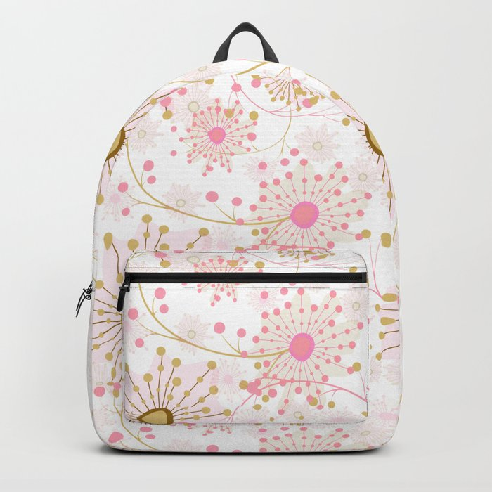 Retro . Abstract pattern Dandelions . Backpack