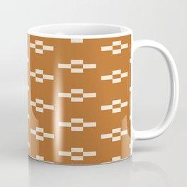 Southwestern Coyote Track Symbols in Ochre + Ecru Coffee Mug