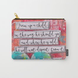 Train up a Child Scripture Art Carry-All Pouch
