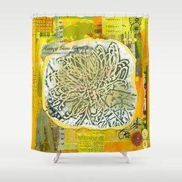 Honey Gem Grevillea Shower Curtain