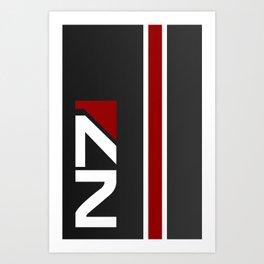Mass Effect - N7 Art Print