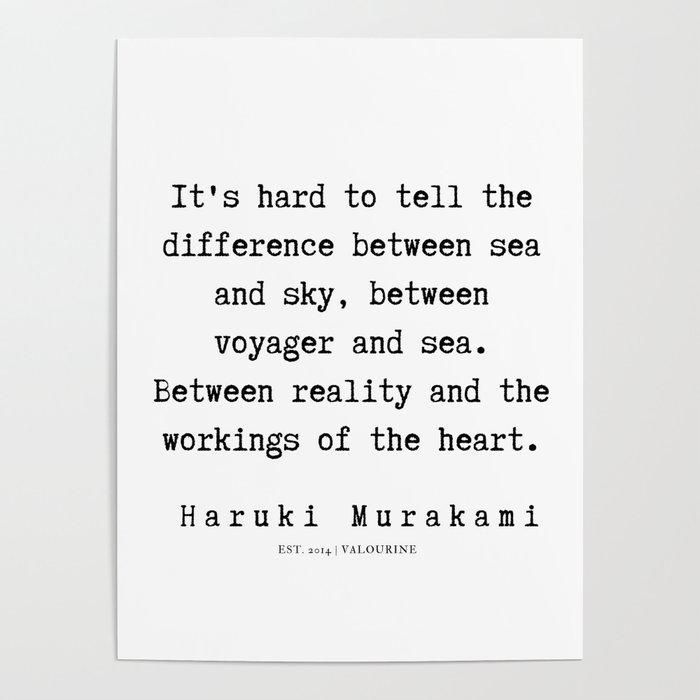 52 Haruki Murakami Quotes 190811 Poster By Quotesandsayings