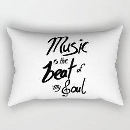 Listen to the Music Rectangular Pillow