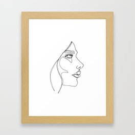 DISAPPOINTMENT ( ONE LINE DRAW) Framed Art Print