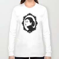 hepburn Long Sleeve T-shirts featuring Audrey Hepburn  by Pendientera