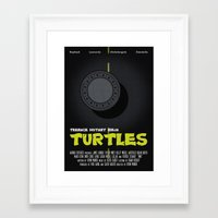 teenage mutant ninja turtles Framed Art Prints featuring Teenage Mutant Ninja Turtles by Vloh