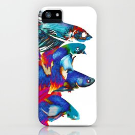 FIGHTING FISHES BETTA - Animals | Psychedelic | 70's | Abstract | Pop | Surrealism | Nature iPhone Case