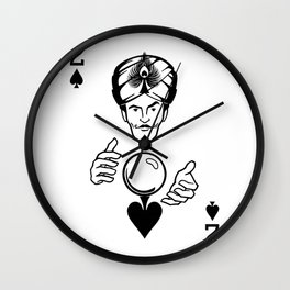 Sawdust Deck: The 2 of Spades Wall Clock