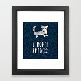Corgi Glitter - Cardigan Welsh Corgi Framed Art Print
