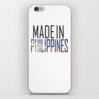philippines iPhone & iPod Skins featuring Made In Philippines by VirgoSpice
