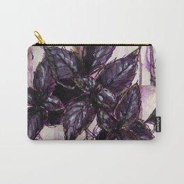 Herb Garden, Purple Basil art Carry-All Pouch