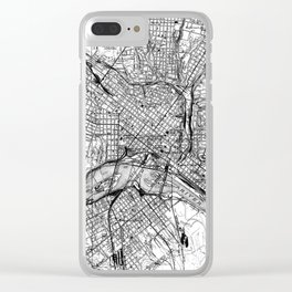 Vintage Map of Richmond Virginia (1934) BW Clear iPhone Case
