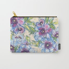 Big Blue Poppies Carry-All Pouch