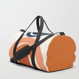 Abstract Shapes 9 in Burnt Orange and Navy Blue Duffle Bag