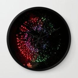 Fire Flower Fireworks Wall Clock
