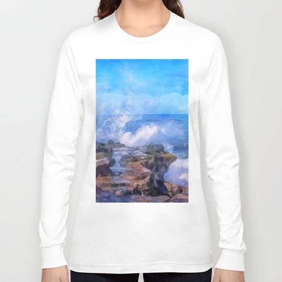 Pacific surf in California Long Sleeve T-shirt