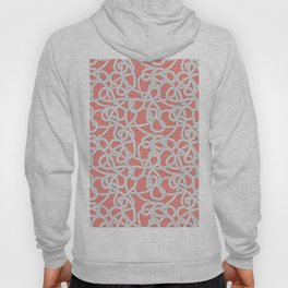 Nautical Rope Knots in Coral Hoody