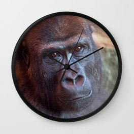 Gorilla Lope Portrait Wall Clock