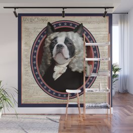 Boston Terrier Founding Father Wall Mural