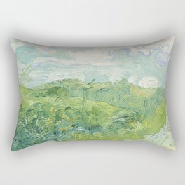 Vincent van Gogh Green Wheat Fields, Auvers 1890 Painting Rectangular Pillow