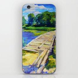 Wooden bridge iPhone Skin