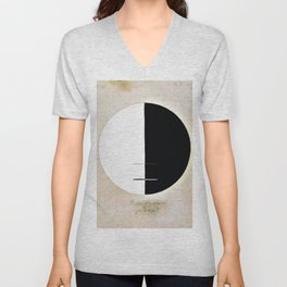 Hilma af Klint - Buddha's Standpoint in the Earthly Life, No. 3a, Series XI Unisex V-Neck
