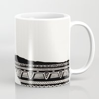 diver Mugs featuring Cliff Diver by Daniel Hughes