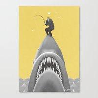 shark Canvas Prints featuring SHARK by Kouzou Sakai