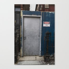 Untitled, blue wall door Canvas Print