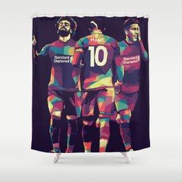 Liverpool Player on WPAP Pop Art Shower Curtain