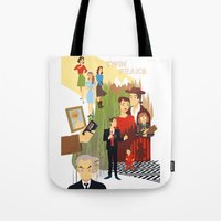 twin peaks Tote Bags featuring Twin Peaks by Collectif PinUp!